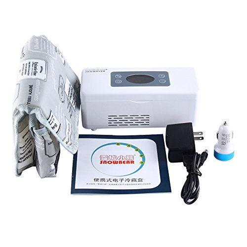 Snow Pertain to Portable Insulin Cooler 2~25°C Refrigerated Box Drug Reefer Car refrigerator with Car Charger