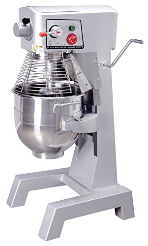 Empura EM-M30H 23.25 inch 30 Quart Heavy Duty All Purpose Stainless Steel Planetary Mixer with Dough Hook And Flat Beater, Attachment Hub, 120 Volts