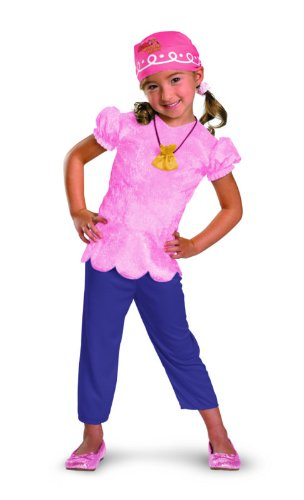 Disney Jake And The Neverland Pirates Izzy Classic Costume, Pink/Purple, Toddler Medium (Jake Toddler Costume)