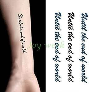Etiqueta engomada del Tatuaje Temporal Impermeable Latido del ...