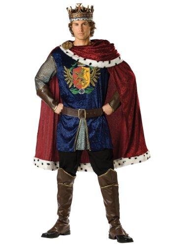 (InCharacter Costumes Men's Noble King Costume, Burgundy/Blue,)