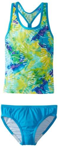 Speedo Big Girls Rainforest Tie Dye Tankini Swimsuit