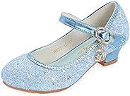 Jurebecia Toddler Girls Flats Shiny Sequins Party Mary Jane Princess Dress Shoes