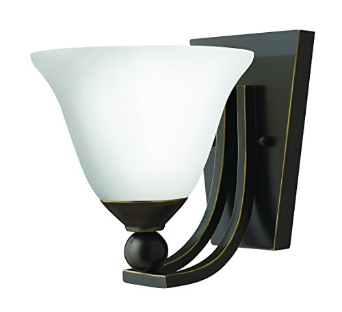Hinkley 4650OB-OPAL Transitional One Light Wall Sconce from Bolla collection in ()