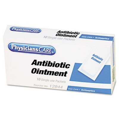 PhysiciansCare First Aid Kit Refill Triple Antibiotic Ointment, 10/Box -