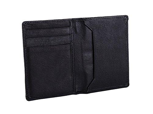 (Dwellbee  Rfid Slim Wallet (buffalo Leather, Black) , One)