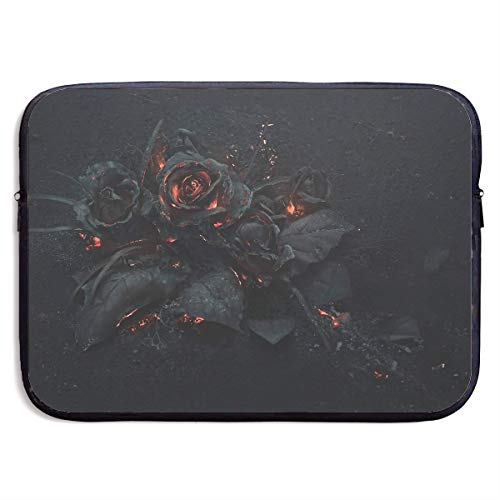- Teesofun Business Briefcase Sleeve Gothic Balck Rose Graphics Portable Laptop Protective Bag Linner for MacBook Pro/MacBook Air/Asus/Dell