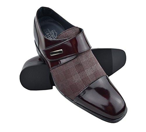 Zerimar Schuhe für Männer Erhöhen Sie 7 cm   Herrenschuhe mit Erhöhundgen   Schuhe die Ihre Höhe Erhöhen Burgunder