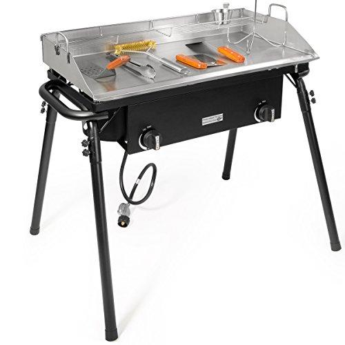 Outdoor Camping Propane Griddle Stove Tools Set 20 PSI Regulator Griddle Pan Griddle Tools w/Storage Bag