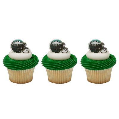 24 ~ NFL Philadelphia Eagles Helmet Ring ~ Designer Cake/Cupcake Topper ~ New!!!]()