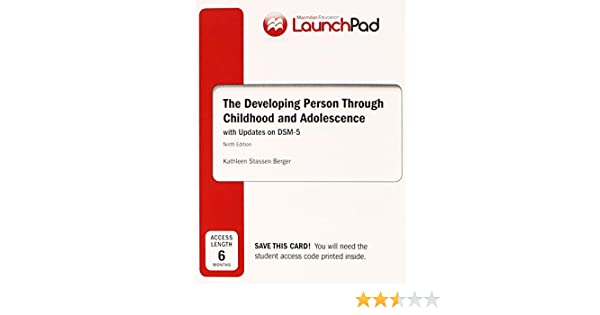 Amazon launchpad for bergers developing person through amazon launchpad for bergers developing person through childhood adolescence with dsm5 update six month access 9781464176869 kathleen stassen fandeluxe Choice Image