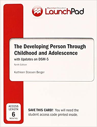 Amazon launchpad for bergers developing person through launchpad for bergers developing person through childhood adolescence with dsm5 update six month access 9th edition fandeluxe Gallery