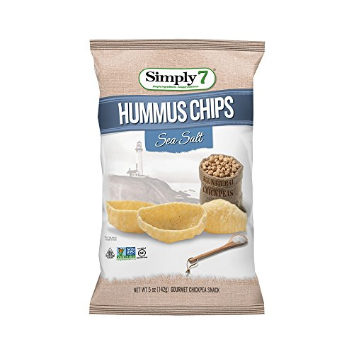 - Simply7 Chickpea Hummus Chips, Sea Salt, 5 Ounce (Pack of 12)