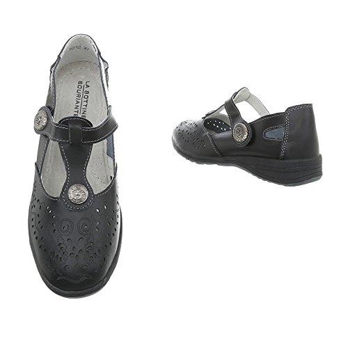 Zapatos para mujer Zapatos de tacon Plataforma Cuñas Ital-Design Schwarz 5012