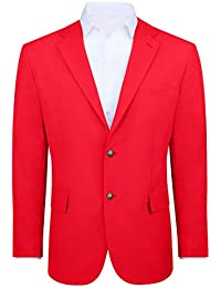 Men's Modern Fit 2 Button Sport Coat Blazer Jacket - Many Colors Available