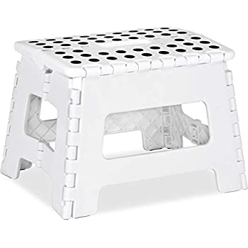 Tremendous Amazon Com Kikkerland Rhino Ii Step Stool White Kitchen Cjindustries Chair Design For Home Cjindustriesco