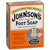 Johnson's Foot Soap Quick Dissolving Powder, Pack of 6 (24 Easy To Use Packets) For Sale