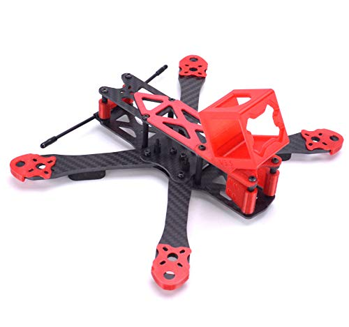 - FPVDrone 225mm FPV Racing Drone Frame Carbon Fiber 5inch Quadcopter Frame Kit with 3D Printed Camera Mount for Gopro