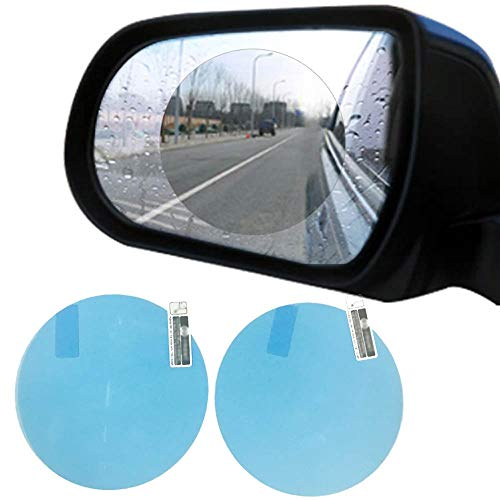 - [2 Pack] OHITEC Water Repellent Film, Mist Fog Free Water Resistant Rainproof Waterproof Anti-Glare Clear Protective Shield Membrane for Rearview Mirrors Car Windows Bathroom Mirrors
