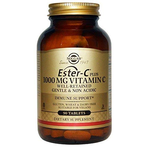 Solgar - Ester-C Plus Vitamin C (Ester-C Ascorbate Complex) 1000 mg, 90 Tablets