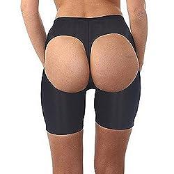FeelinGirl Women's Butt Lifter Boyshort Tummy Control Panties Butt Enhancer Shapewear Size S Jet Black
