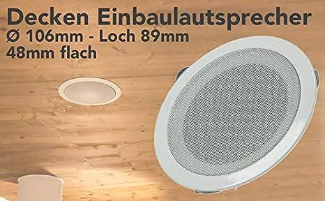 LAUTSPRECHER 50W 60W 80W Schutzgitter BOX Decken Einbau runder Metall Wand