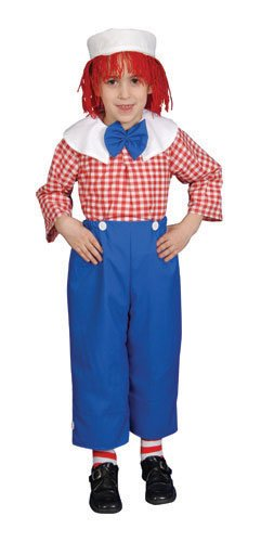 Raggedy Ann Toddler Costume (Deluxe Rag Boy Costume Set - Toddler T4)