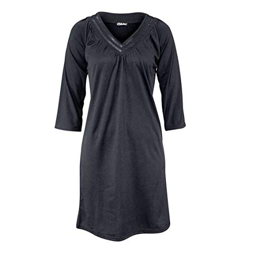 Oben Para Vestido Chillytime Plisado Siehe Larga Manga Mujer 1FIq0