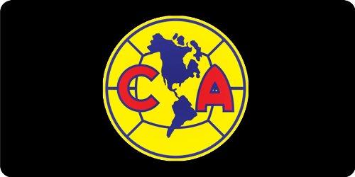 club-america-on-black-photo-license-plate