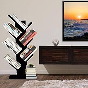 Modernes Regal 7 Fächer Baum Bücherregal Kompaktes Bücherregal