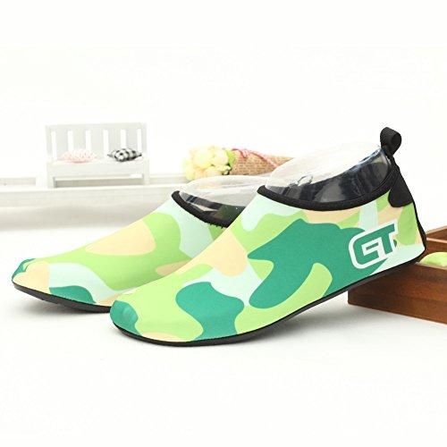SENFI Jungen Mädchen Wasser Schuhe Mutifunctional Barfuß Quick Dry Aqua Schuhe Für Strand Pool Übung (Kleinkind / Little Kid / Big Kid) Grün