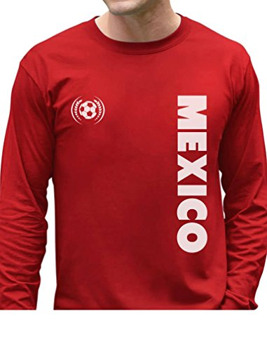 TeeStars - Mexico National Soccer Team Soccer Fans Long Sleeve T-Shirt X-Large Red