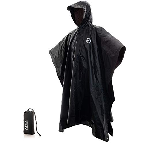 Foxelli Hooded Rain Poncho – Wat...