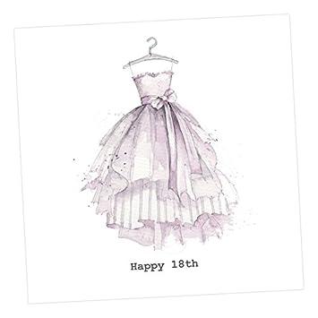 Aquarell Party Kleid 18. Geburtstag Karte: Amazon.de: Bürobedarf ...