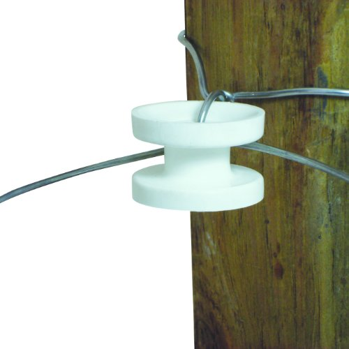 End Strain Insulator (Field Guardian Wood Post High Strain Corner Insulator, White)