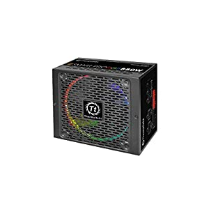 Thermaltake Smart Pro RGB 850W 80+ Bronze Smart Zero 256-Color RGB Fan Fully Modular ATX 12V 2.4/EPS 12V 2.92 Power…