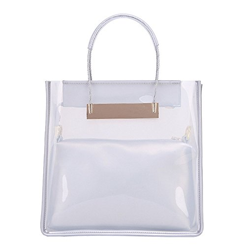 Jelly Purse Handbag (JBS & Co Plastic Jelly Handbag for Women with Small Shoulder Bag (White)