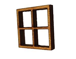 Miniature windows set of 4 fairy elf hobbit door wooden for Amazon uk fairy doors