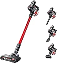 Cordless Vacuum Cleaner, 6-in-1 25000PA Stick Vacuum, 300W Strong Suction, 40Mins Runtime, Lightweight, Ultra-