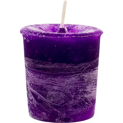 Votive Moon Blue (Chakra Votive Candle~Infused with a blend of Oils~(Violet)~CROWN)