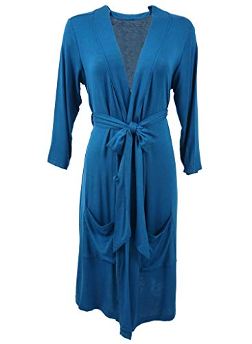 Posh Peanut Mommy Robe for Maternity, Labor Delivery Nursing Robe, Soft Bamboo Lounge Wear (Size Small - XXLarge) (Solid Sailor Blue, Small (0-2)) (Baby Blue Gown Women)