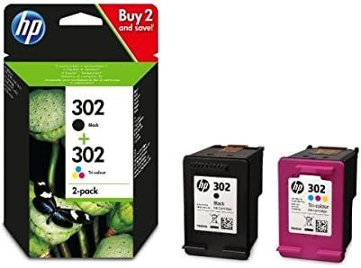 HP 302 - Combo Negro y Tricolor X4D37AE Compatible con impresoras Europeas: Amazon.es: Oficina y papelería