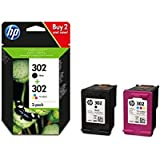 Original HP 302 Black and Tricolour Combo Pack X4D37AE Only Compatible with European Printers
