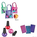 Spa Party Mini Totes Favor Bags, Notepads and Pens for 12 People