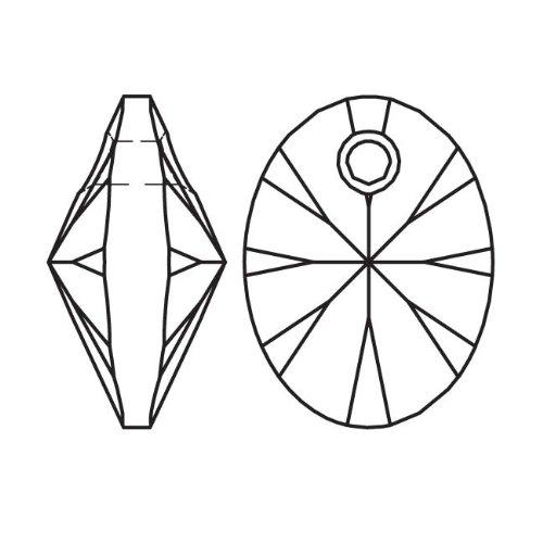 Swarovski Crystal, #6028 Xilion Oval Pendants 8mm, 8 Pieces, Crystal Rose Gold 8 Mm Xilion Pendant