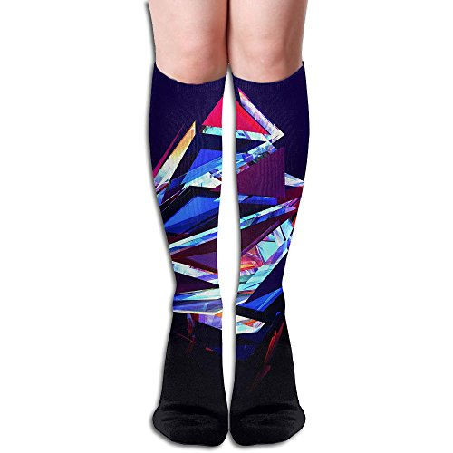 Hose Stinger (Unisex Knee High Long Socks Color Polygon Over Calf Casual Sport Stocking Cotton)