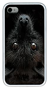 Big Face Bat Head PC hard Case Cover for iPhone 4 and iPhone 4s White