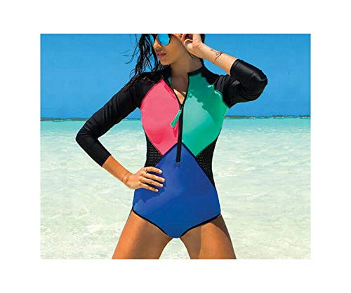Swimwear One Piece Swimsuit Long Sleeve Bathing Suit Women Print Floral