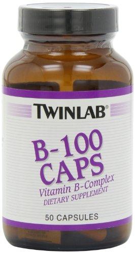 Twinlab B-100 50 Caps (Twin Lab B-100 Capsules, 50-Count)