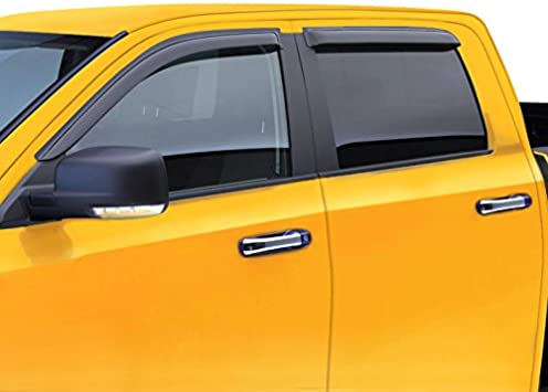 For FRONTIER CREW CAB; 194627 Window Vent Shade Visors In Channel 2000-2004